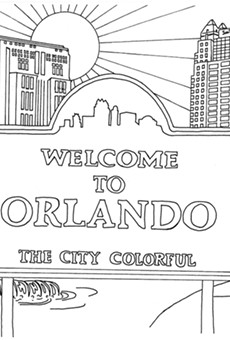 Local artist Jen Jedlicka turns iconic Orlando scenes into your coloring canvas