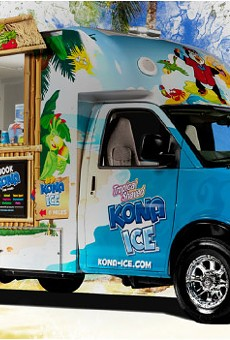 Kona Ice truck rolls into Hunter's Creek with shaved ice for your aching sinuses