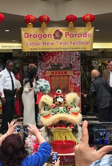 Video: Watch the lion awaken at the Orlando Lunar New Year Festival