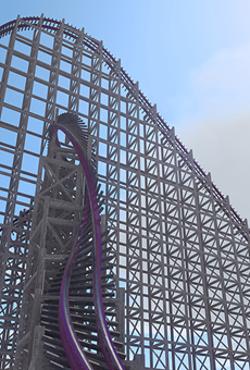 A rendering of the reimagined Gwazi coaster