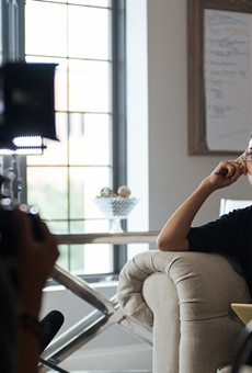 Cinematographer Alvin Teves shoots Alea Sigueroa with his Sony A7S on the set of 'Wake Up'