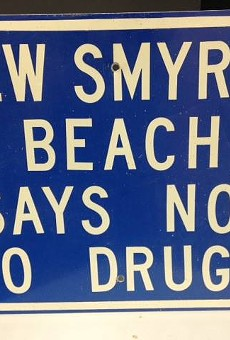 Someone stole this New Smyrna Beach sign 30 years ago and just returned it because they felt bad