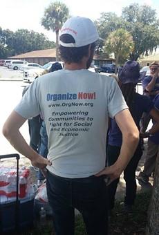 Enjoy a Saturday morning fish fry at Organize Now's community garage sale