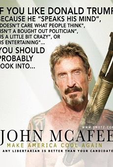 John McAfee, creator of anti-virus software program, is one of 18 libertarian presidential candidates.