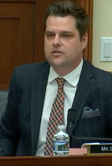 Florida Rep. Matt Gaetz can't support transgender protections because Trump could declare himself  'first female president'