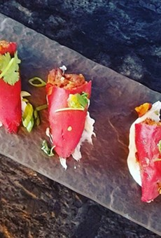 Stuffed piquillo peppers appetizer