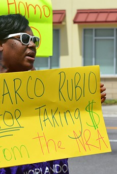 Marco Rubio clashes with protester over Pulse shooting during Orlando visit