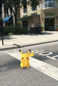 Pikachu was spotted in front of Crispers on July 28.