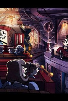 Concept art of the Mickey & Minnie's Runaway Railway attraction