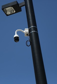 A surveillance camera in downtown Orlando.