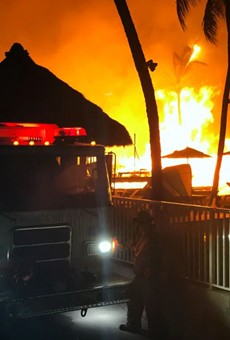 Massive fire rips through a Florida Keys luxury resort just months after it opens (2)