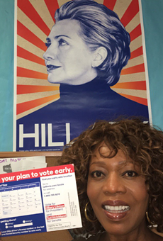 Actress Alfre Woodard celebrates Hillary's birthday in Orlando today with early voter birthday bash
