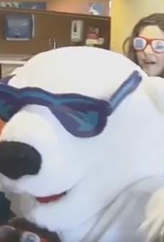 Solar Bears help children at Florida Hospital ace the Mannequin Challenge