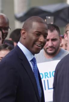 Andrew Gillum campaigning in 2018.