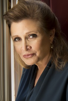 Carrie Fisher at the Venice International Film Festival, 2013