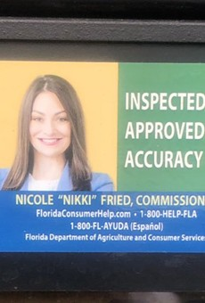 Florida Legislature adds clause to state budget ensuring a lady's face won't appear on our gas pumps