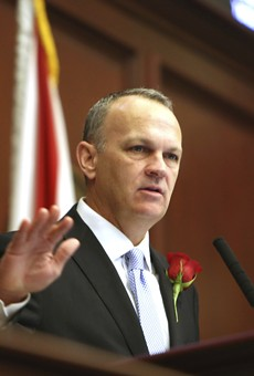 Florida Education Commissioner Richard Corcoran swearing into office, Nov. 22, 2016