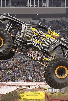 Monster trucks wreak havoc at Camping World Stadium for the Monster Jam