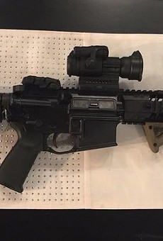 The short-barreled AR rifle stolen from a Tavares police officer last weekend
