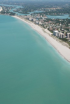 Aerial view of Venice Beach, Florida