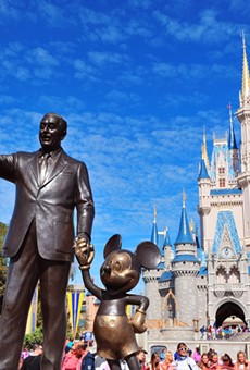 """Look up there,"" said Walt to Mickey. ""Someday the sky will be yours."""