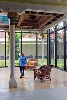 TheCharles Hosmer Morse Museum of American Artfeatures an indoor atrium