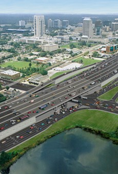 A rendering of I-4 in its massive finished form