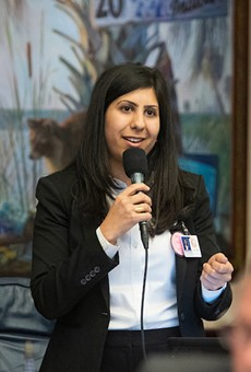 Rep. Anna V. Eskamani speaks during legislative session on April 3, 20919