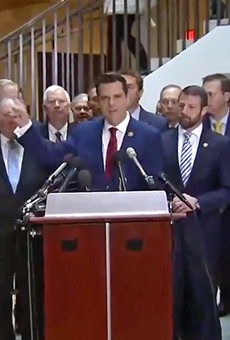 Florida Rep. Matt Gaetz and a bunch of other idiots just committed a dangerous breach of national security