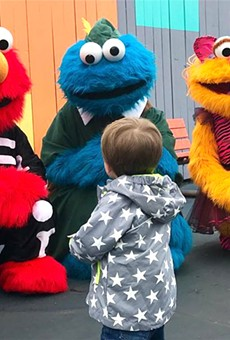 Country pop star Carrie Underwood visited Sesame Place in Langhorne, Pennsylvania with her son Isaiah.