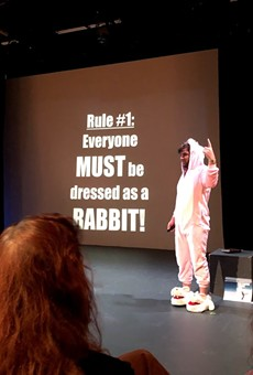 "Jon Bennett performs ""It's Rabbit Night!"" on opening night of the 2020 Orlando Fringe Winter Mini-Fest, which continues through Jan. 12."