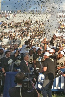 In 2017, UCF beat Memphis to won the American Athletic Conference Championship, and a 12-0 season