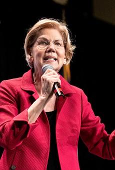Sen. Elizabeth Warren speaks at the 2019 Iowa Democrats Hall of Fame Celebration