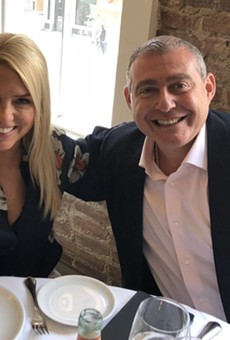 Pam Bondi with Lev Parnas, in a photo released by Parnas' lawyer