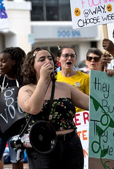 Third Women's March at Orlando City Hall hustles to 'box out' bigotry