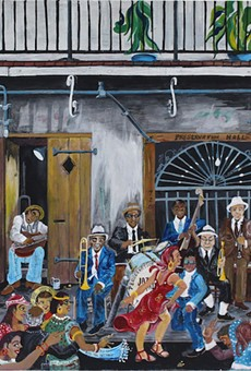 """Preservation Hall,"" paint on canvas board, 1992"