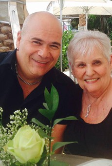 Terry DeCarlo with his mother, Anne Fabrikant