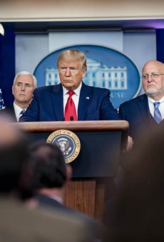 President Donald J. Trump and members of the his Coronavirus Task Force