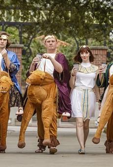 The lead actors of Garden Theatre's Ben Hur