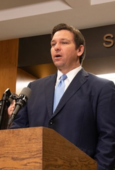 Gov. Ron DeSantis at a January ceremony honoring Emergency Management Directors