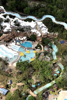 Disney's Blizzard Beach Water Park on Monday, March 17, after the park was closed