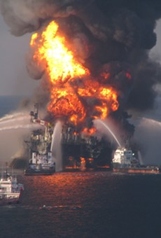 Vessels equipped with water cannons fought the devastating Deepwater Horizon fire for days.