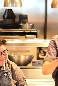 Chefs Wendy Lopez (L); Anthony Watler (R)