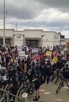 Protesters in Orlando on Saturday