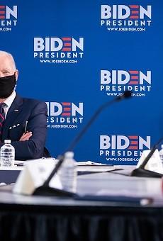 Joe Biden, masked