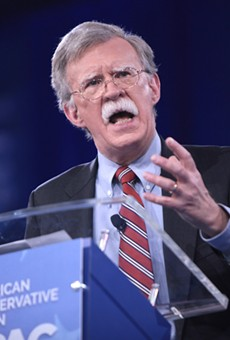 Former U.N. Ambassador John Bolton speaking at the 2016 Conservative Political Action Conference (CPAC) in National Harbor, Maryland.