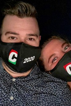 Attendees received specially branded face masks, the ultimate functional memento.