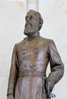 The bronze statue of Confederate Gen. Edmund Kirby Smith