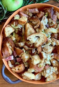 Apple-pancetta stuffing from Terralina
