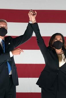 Vice President Joe Biden and Sen. Kamala Harris